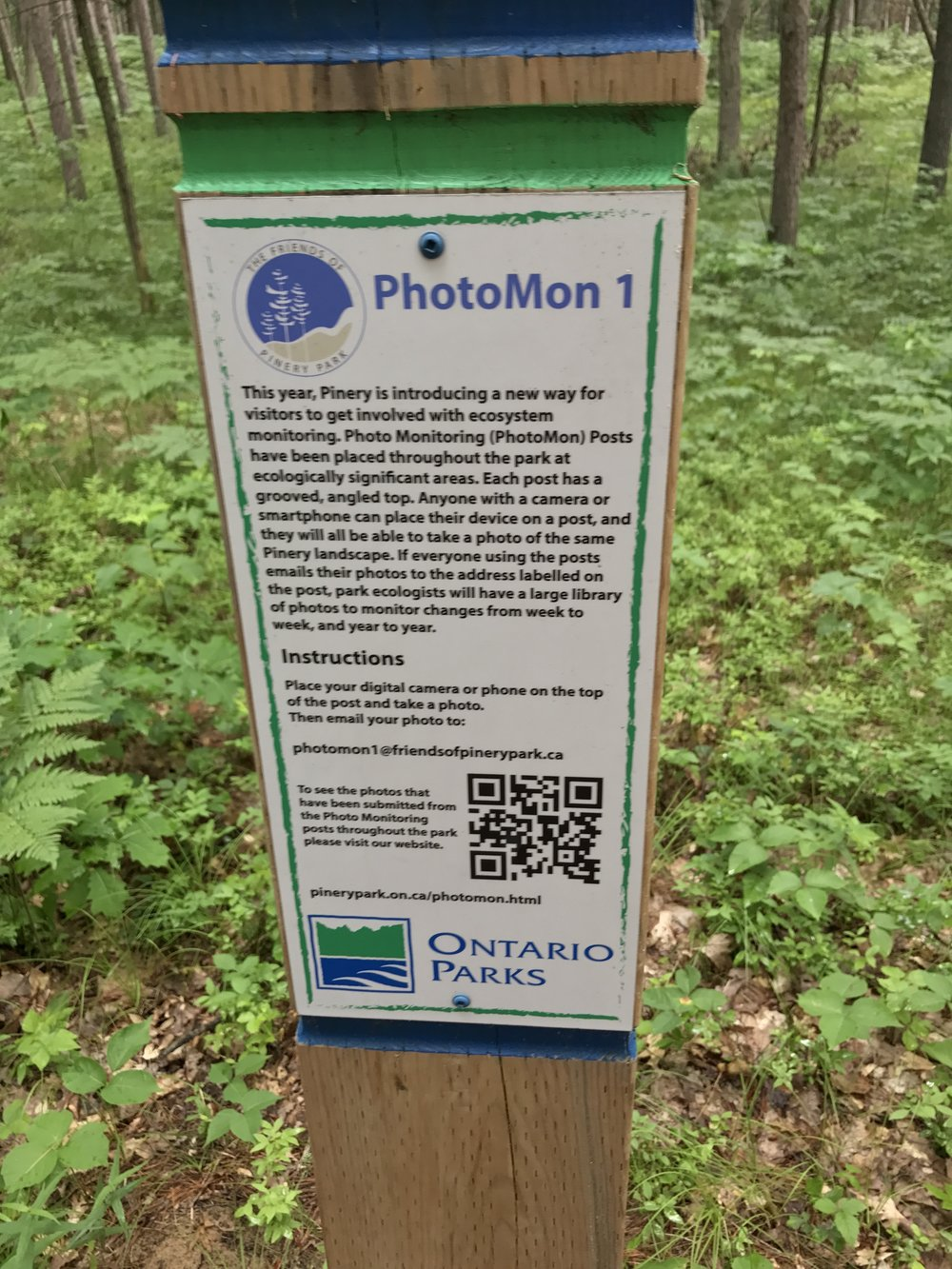 "The trail features a ""high tech"" component that allows visitors to share their photos online for public viewing."
