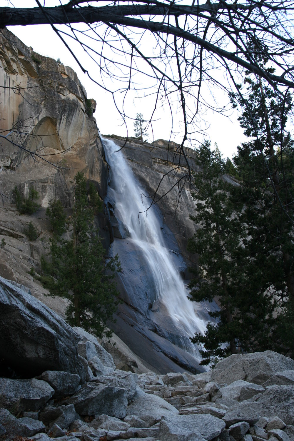 After Vernal Falls, the route then passes Nevada Falls.