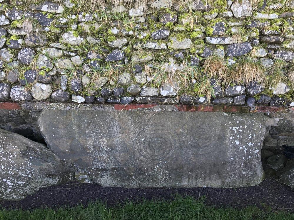 Megalithic art at Newgrange.