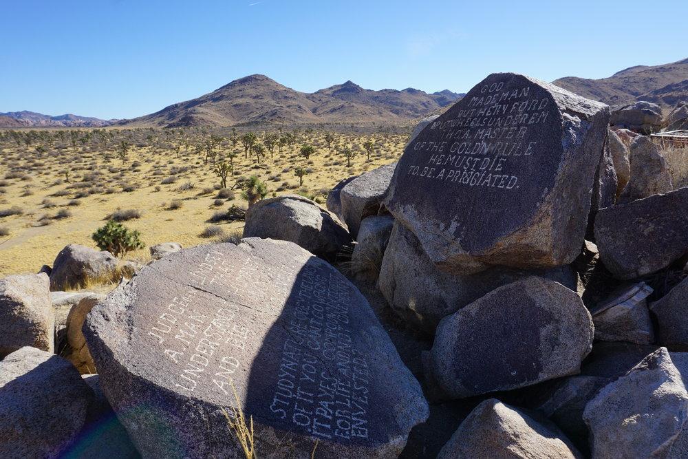 Samuelson's Rocks, January 2018