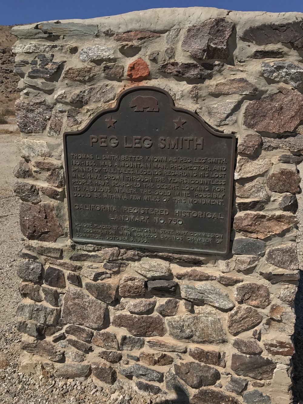 After the original marker was placed, the State of California followed with its own marker some 15 years later.