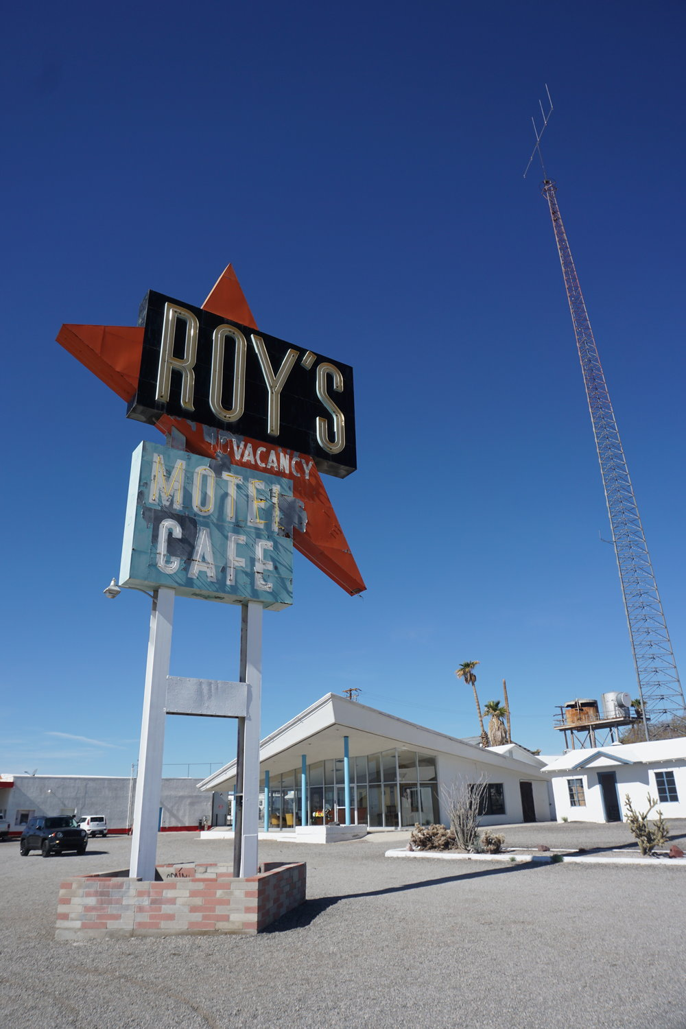 Roy's Motel is an iconic old Route 66 destination that is no longer operational.