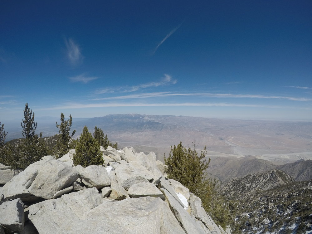To the North of San Jacinto, Mount San Gorgonio is a prominent and taller peak.