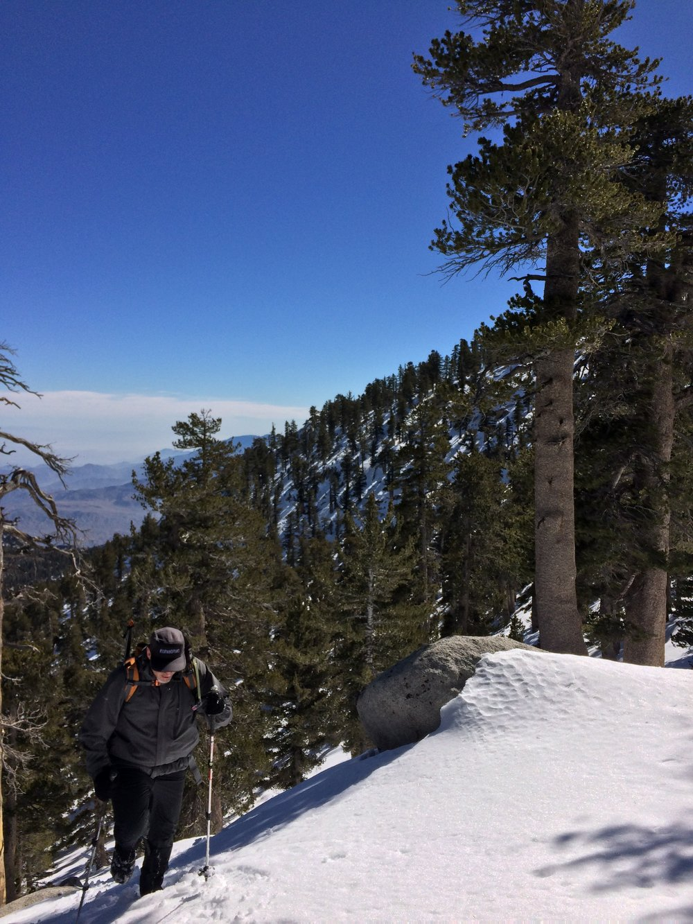 During the winter months, an ascent up San Jacinto becomes a bona fide winter climb.