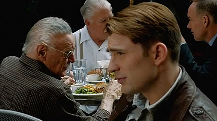 A whole bunch of Captain America scenes were cut from The Avengers, including this Stan Lee cameo.