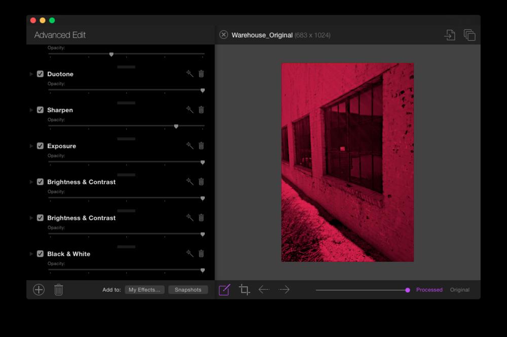 Flare 2 interface in dark mode.
