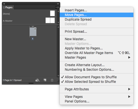 insert page numbers indesign