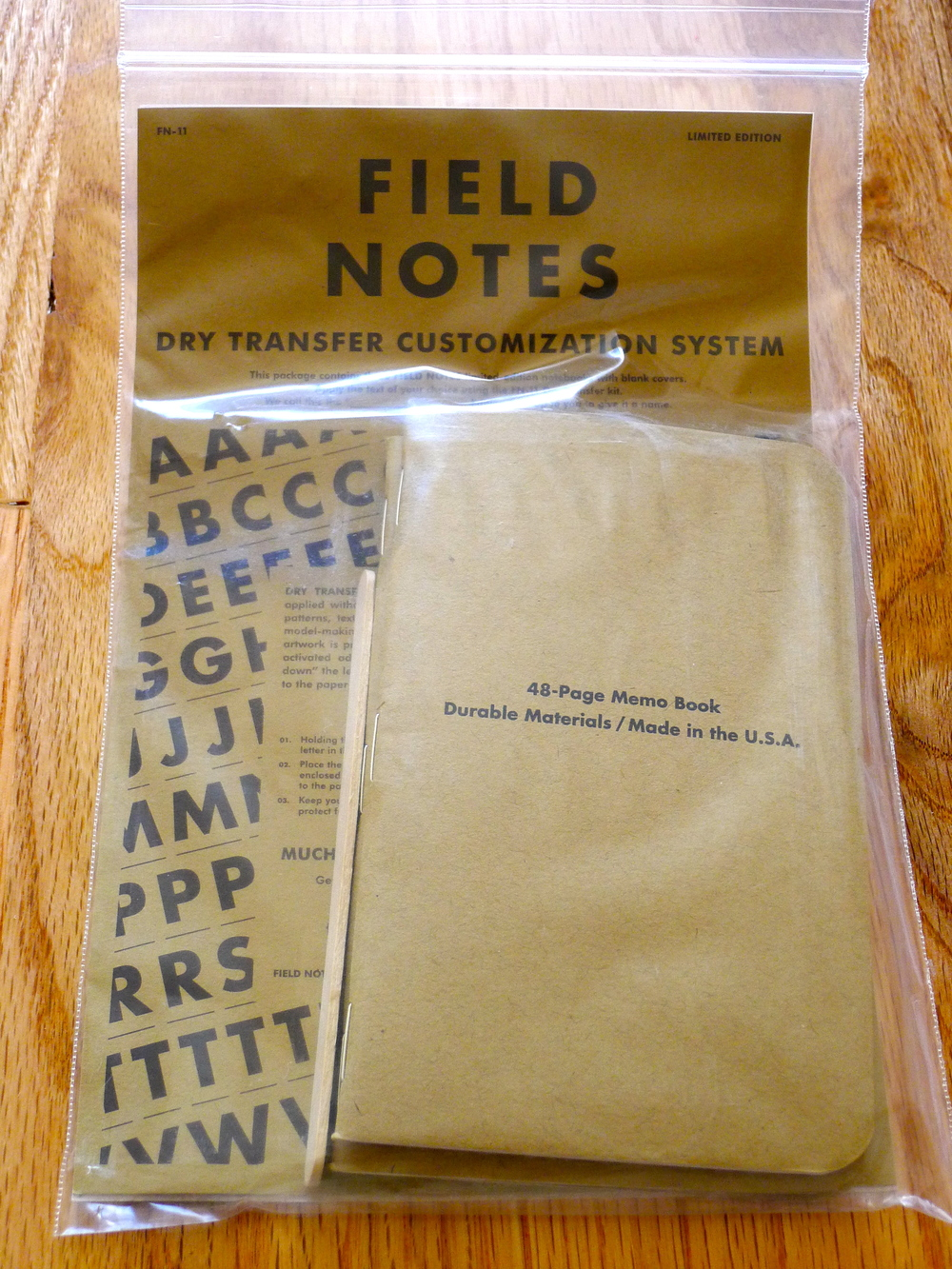 Field Notes Dry Transfer Edition - Spring 2011