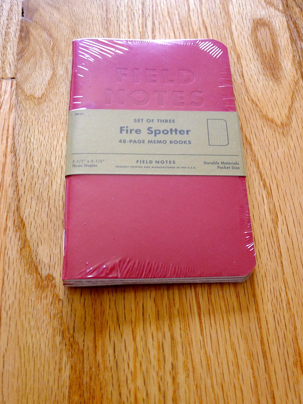 Field Notes Fire Spotter Edition - Fall 2011