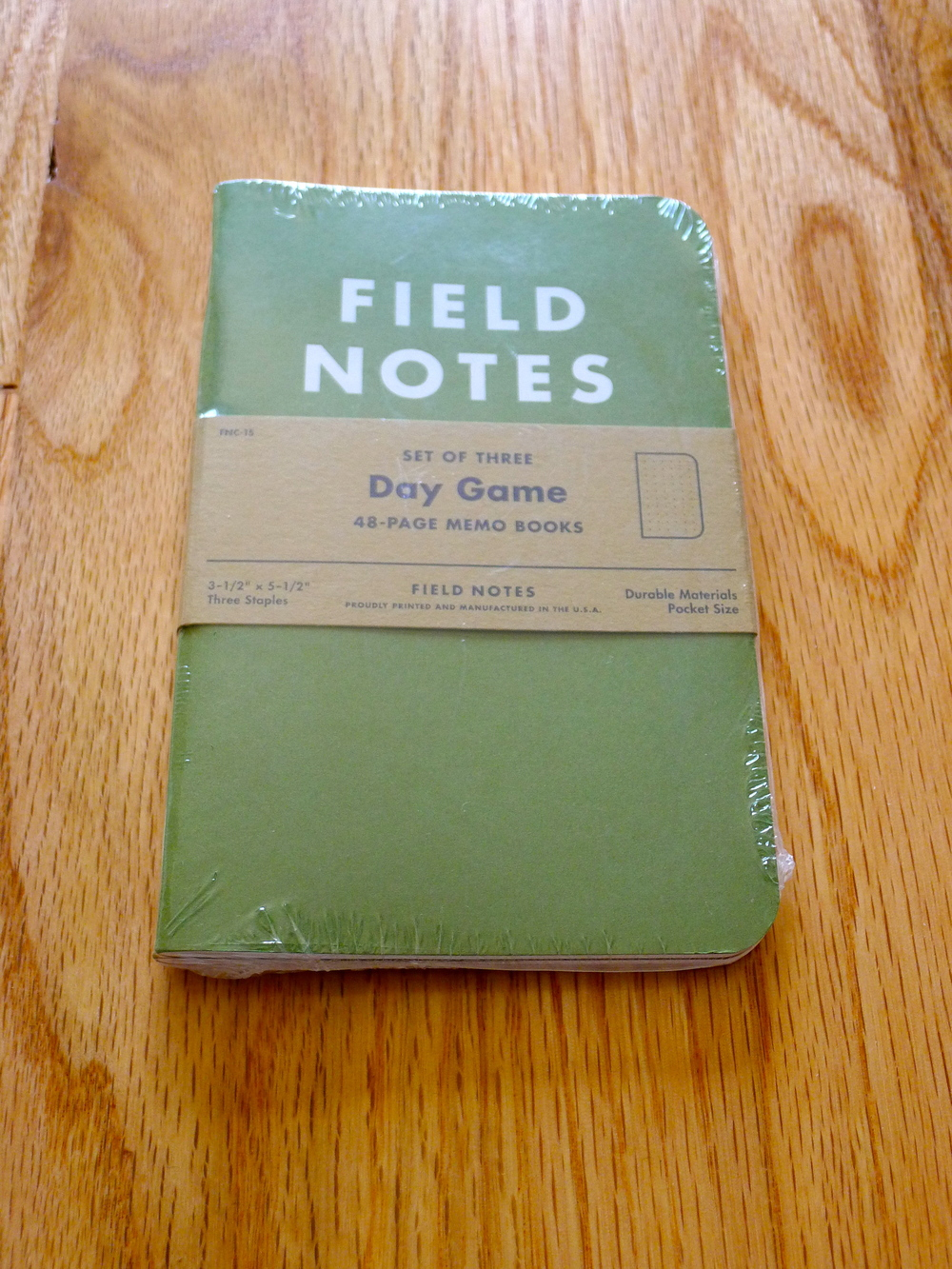 Field Notes Day Game Edition - Summer 2012