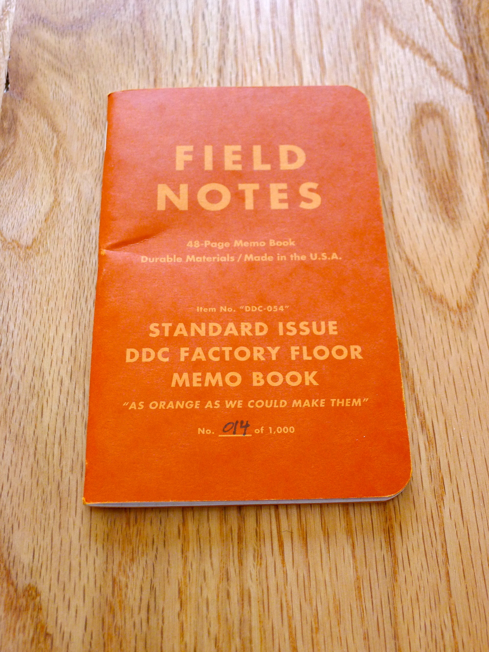 Field Notes DDC Factory Floor Special Edition