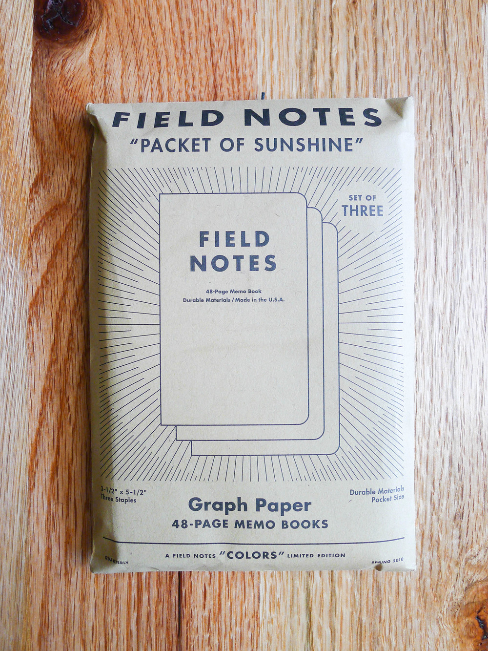 Field Notes Packet of Sunshine - Spring 2010