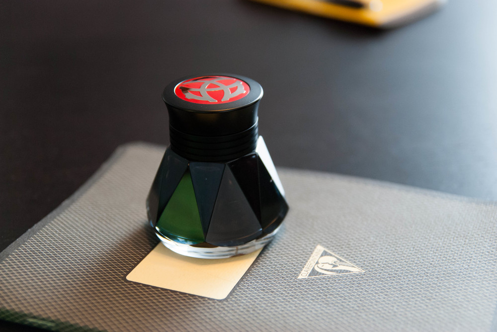 Art Deco Glass Ink Well For Sale at 1stdibs