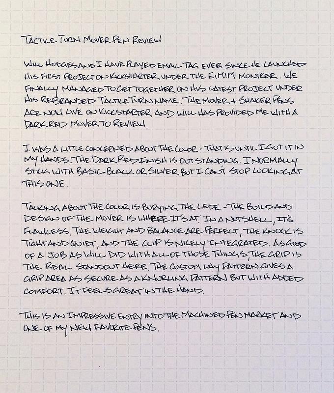 Tactile Turn Pen Review