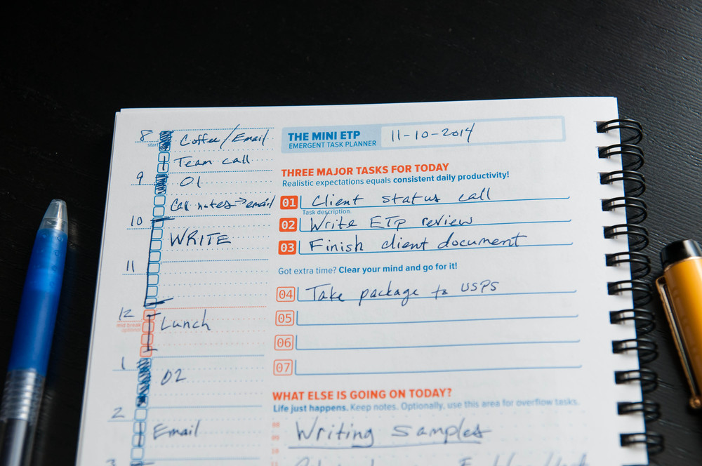 Mini Emergent Task Planner Notebook Review The Pen Addict