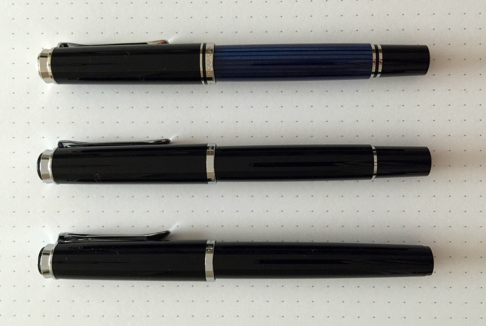 From top to bottom: Pelikan M405, M205, P205
