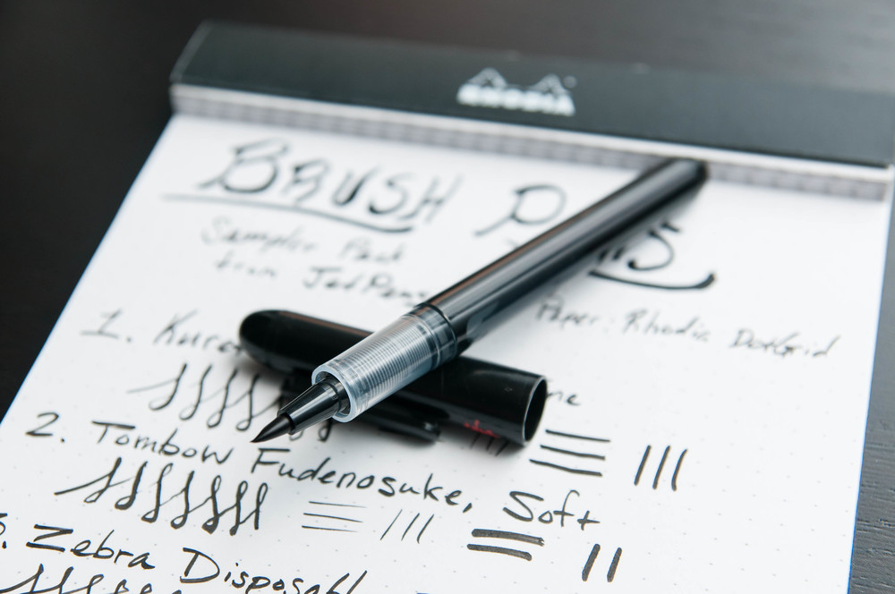 An Introduction To The Brush Pen Sampler The Pen Addict