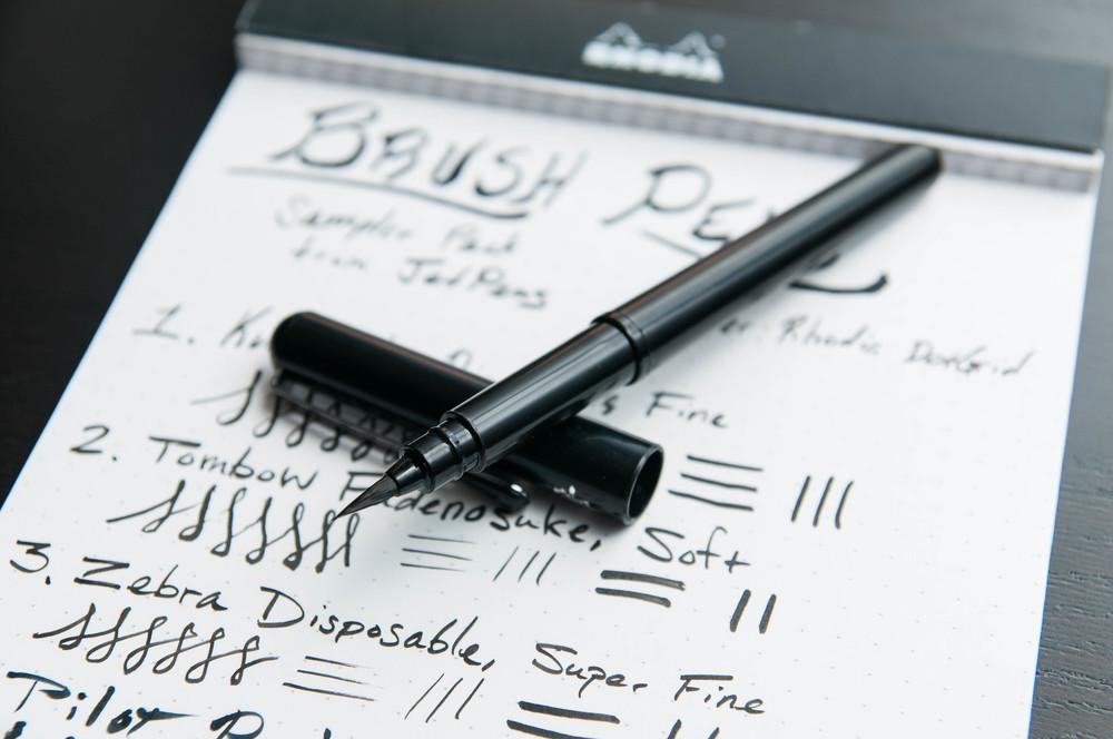 An introduction to the brush pen sampler u the pen addict