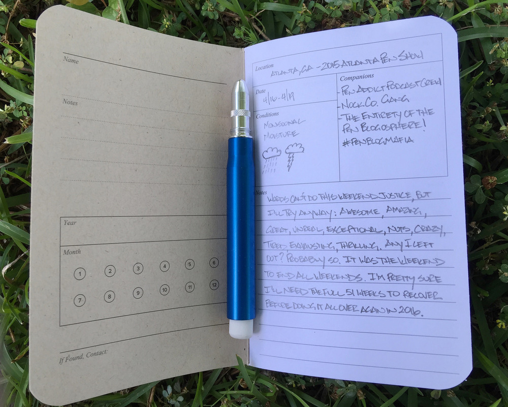 word notebooks adventure log review the pen addict