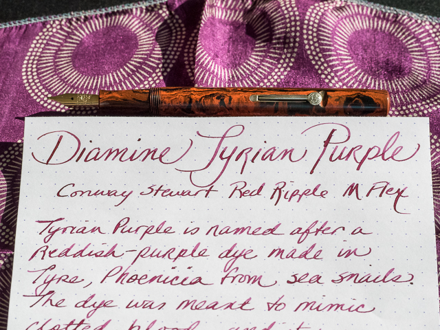 Diamine Tyrian Purple Ink Review The Pen Addict