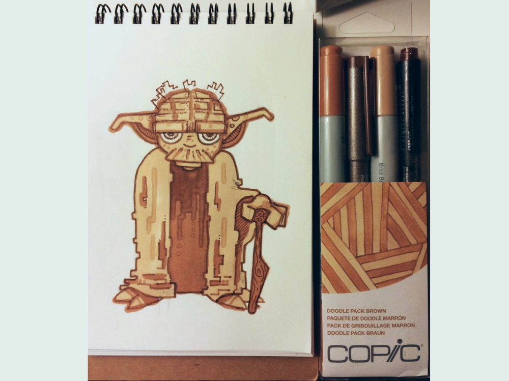Copic Doodle Pack Brown Ink Review The Pen Addict