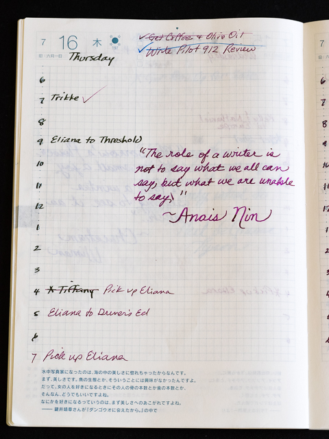 Hobonichi planner review — the pen addict