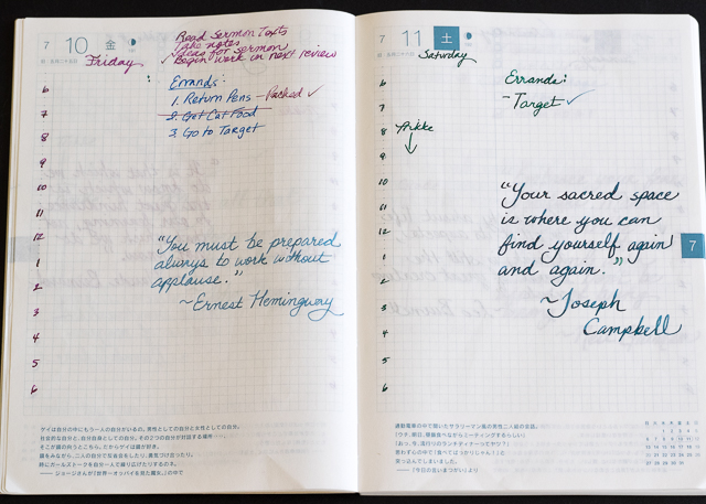 Hobonichi Planner Review The Pen Addict