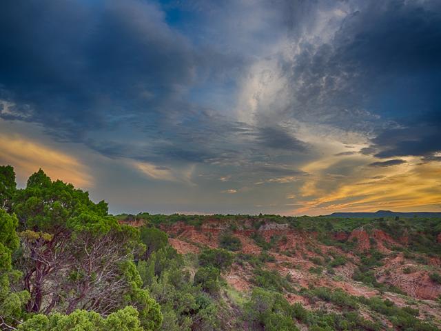 Twilight at Caprock Canyons, Texas