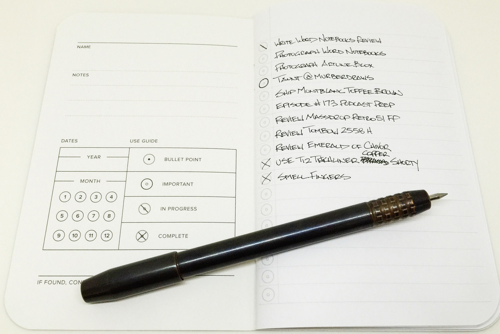 word notebooks blue mountain review the pen addict