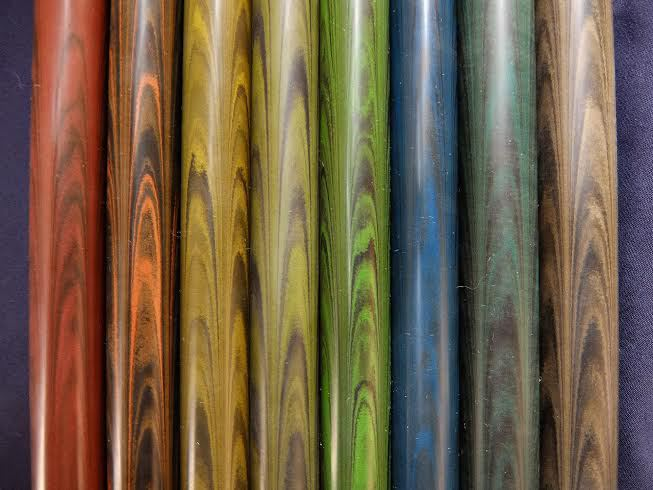 Ebonite Swirl Colors
