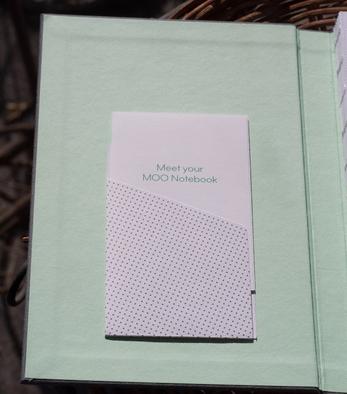 The moo hardcover notebook a review the pen addict additional features include a pocket you can stick to the inside cover for business cards and theres a dark gray book ribbon reheart Image collections