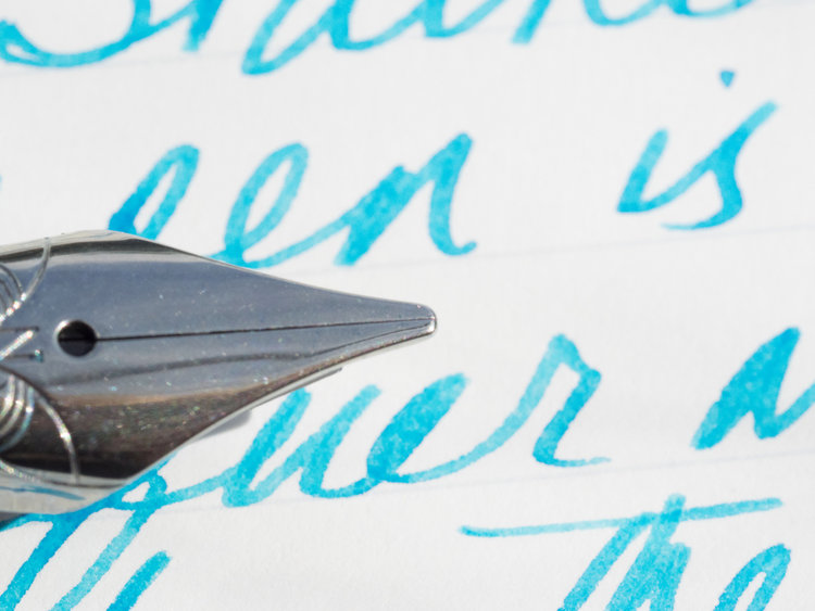 Nemosine Fission Classic Blue 0.6mm Fine Stub Fountain Pen: A Review