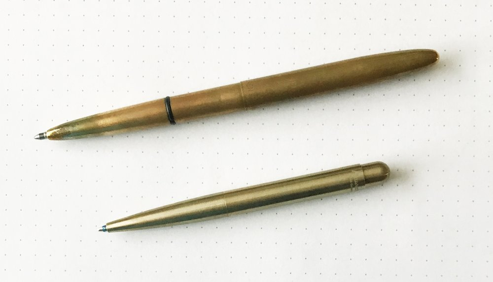 Fisher Space Pen, top.