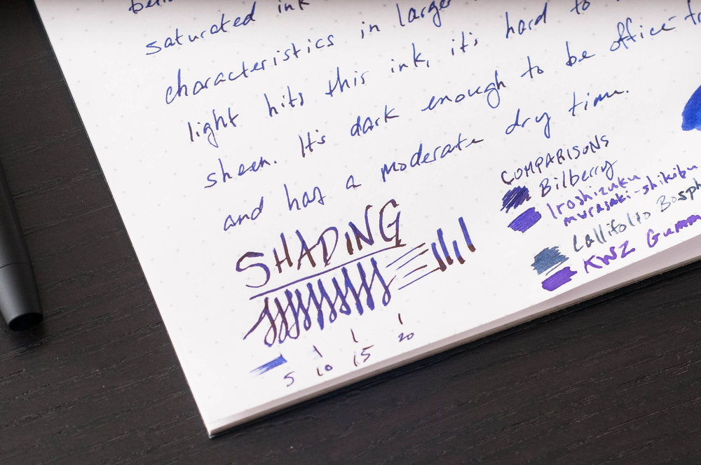 Diamine Bilberry Shading
