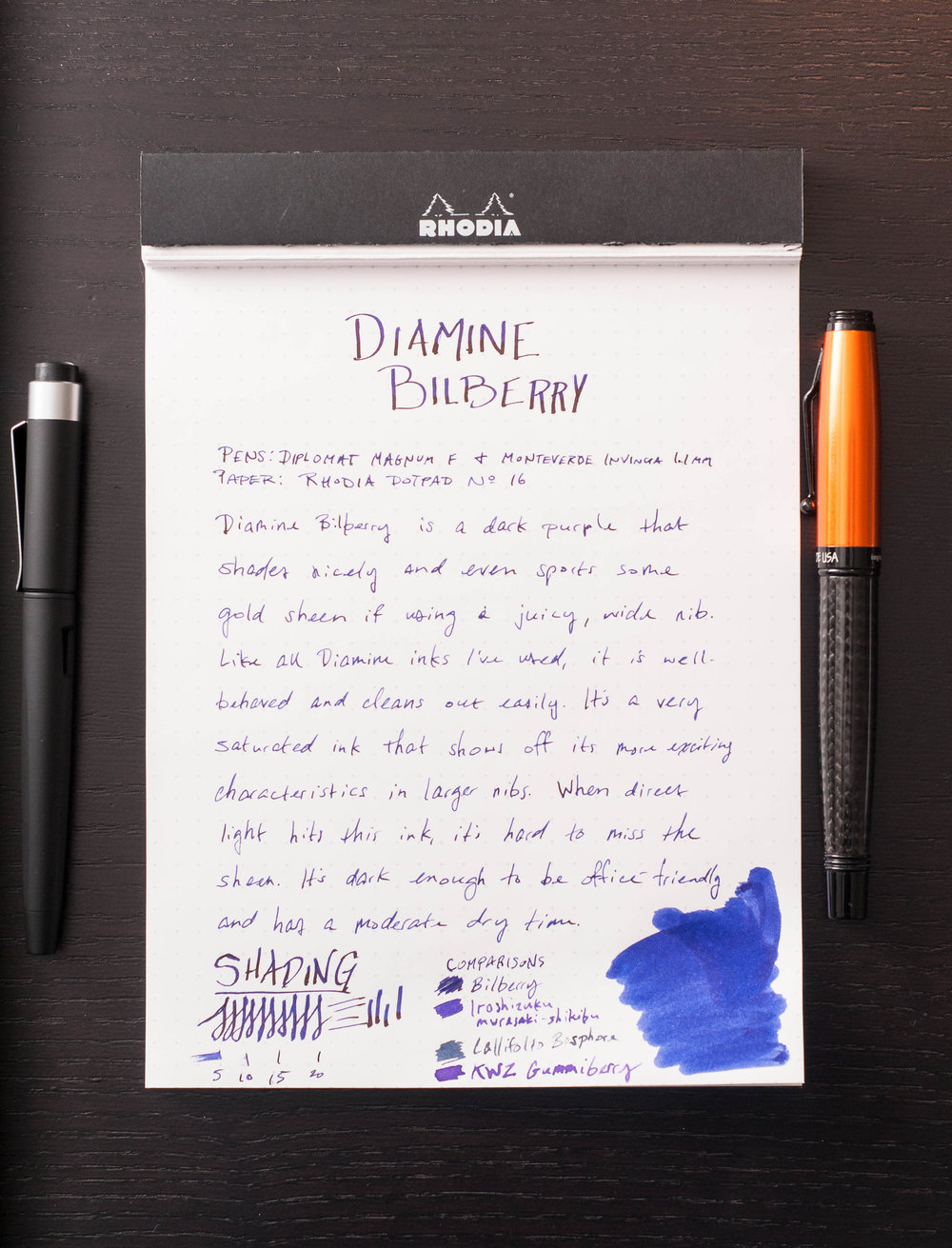 Diamine Bilberry Review