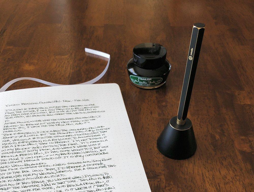 ystudio Brassing Desk Fountain Pen