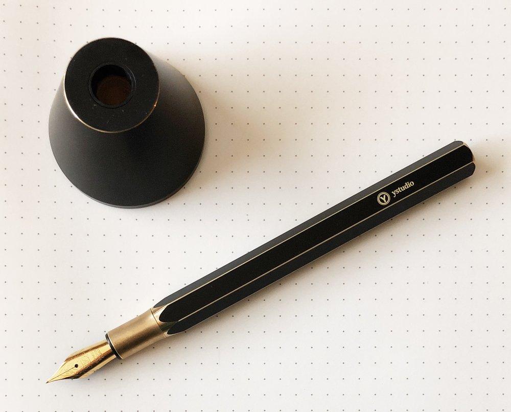 ystudio Brassing Desk Fountain Pen base