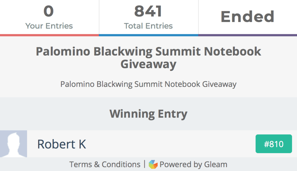 Palomino Summit Notebook Winner