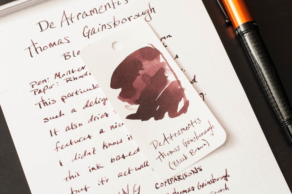 DeAtrementis Gainsborough Ink Sample