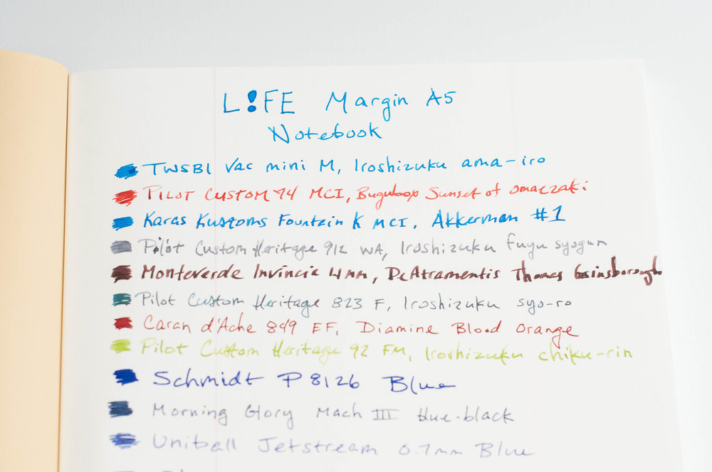 Life Margin A5 Writing