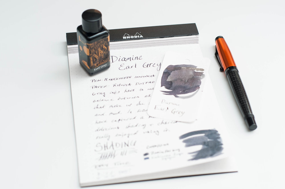 Diamine Earl Grey Ink Review