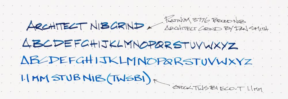Architect Nib Alphabet