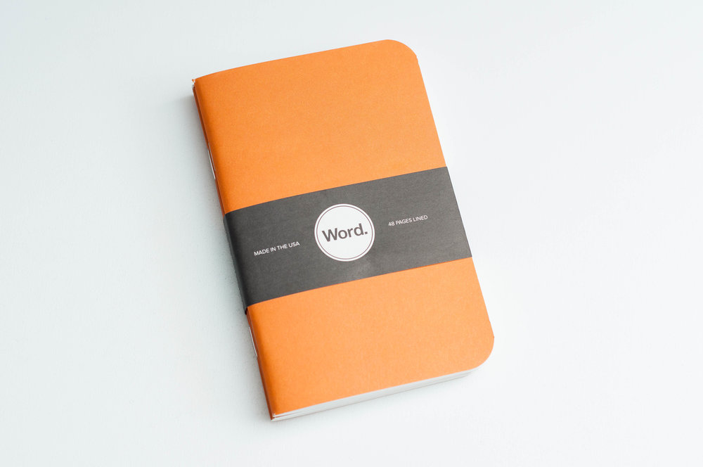 Word Notebooks Orange Cover