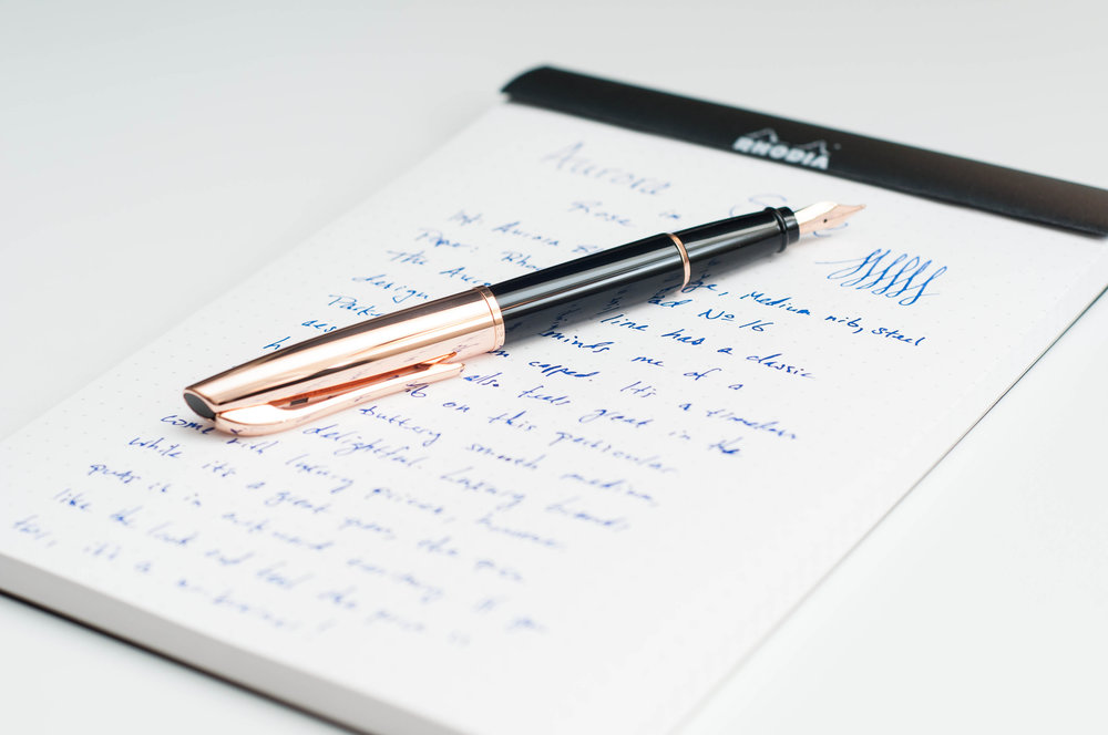 Aurora Style Rose Gold Fountain Pen Review