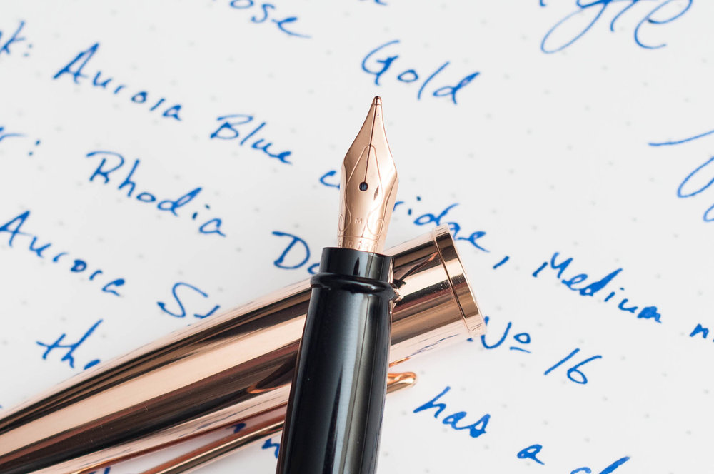 Aurora Style Rose Gold Fountain Pen Nib