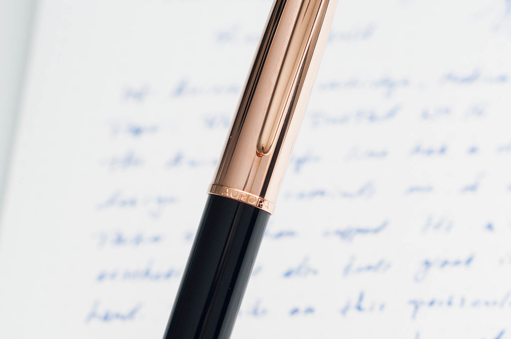 Aurora Style Rose Gold Fountain Pen Cap