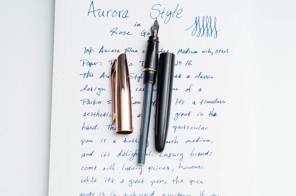 Aurora Style Rose Gold Fountain Pen Converter