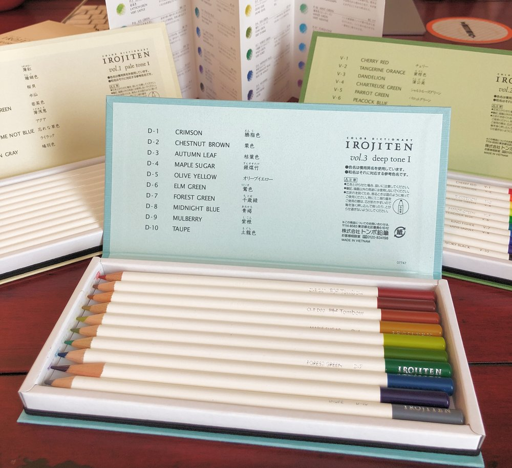 Tombow Irojiten Color Dictionary Color Pencil Deep I