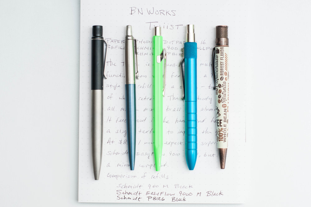 BN Works Twiist 2-in-1 Pen vs Parker Jotter