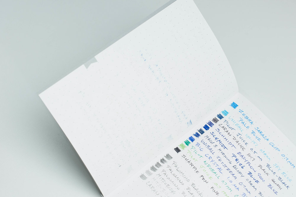 Print Prologue Notebook writing back